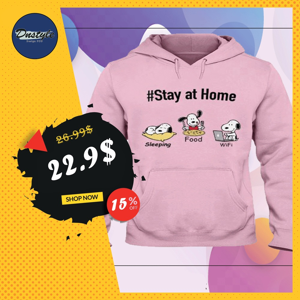 Snoopy stay at home sleeping food wife hoodie
