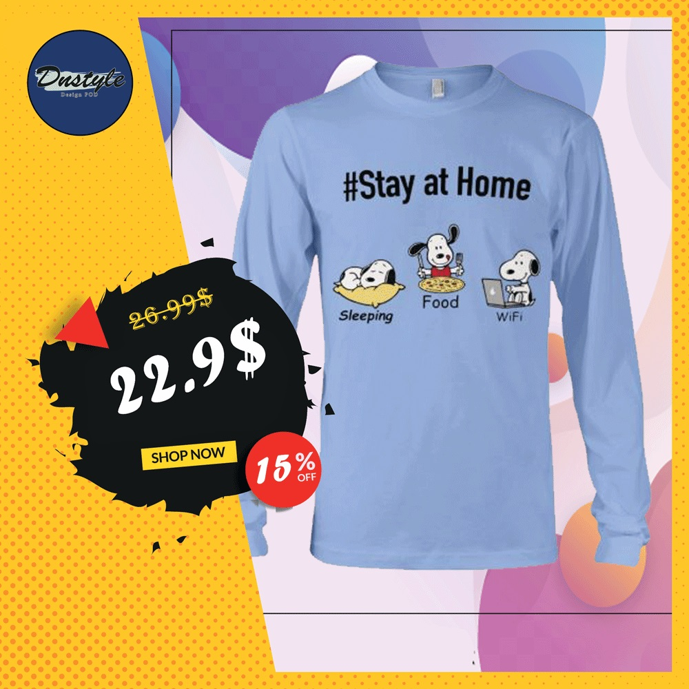 Snoopy stay at home sleeping food wife long sleeved