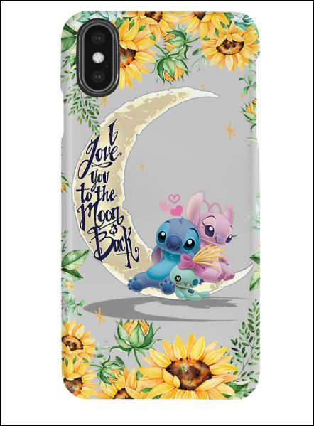 Stitch sunflower i love you the moon and back phone case 2