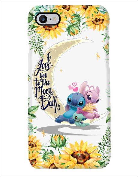 Stitch sunflower i love you the moon and back phone case 3