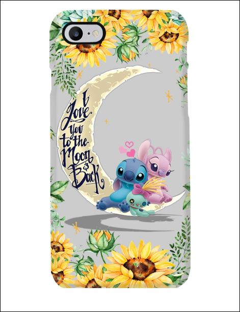 Stitch sunflower i love you the moon and back phone case