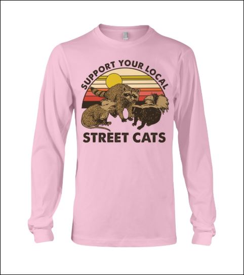 Support your local street cats vintage long sleeved