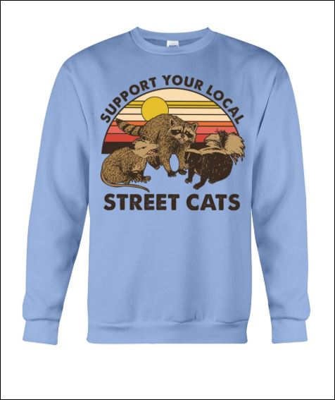 Support your local street cats vintage sweater