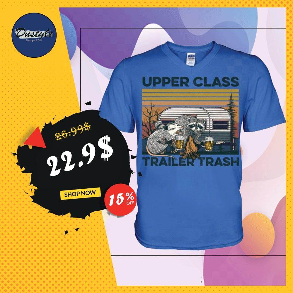 Upper class trailer trash vintage v-neck shirt