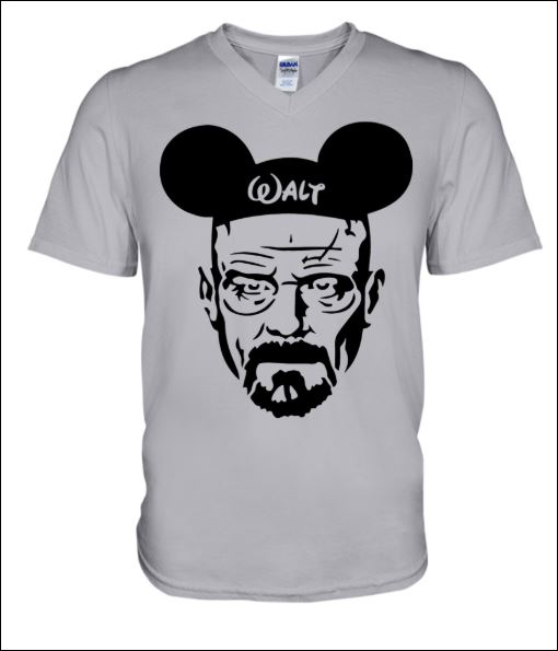 Walter White and Mickey Mouse v-neck shirt
