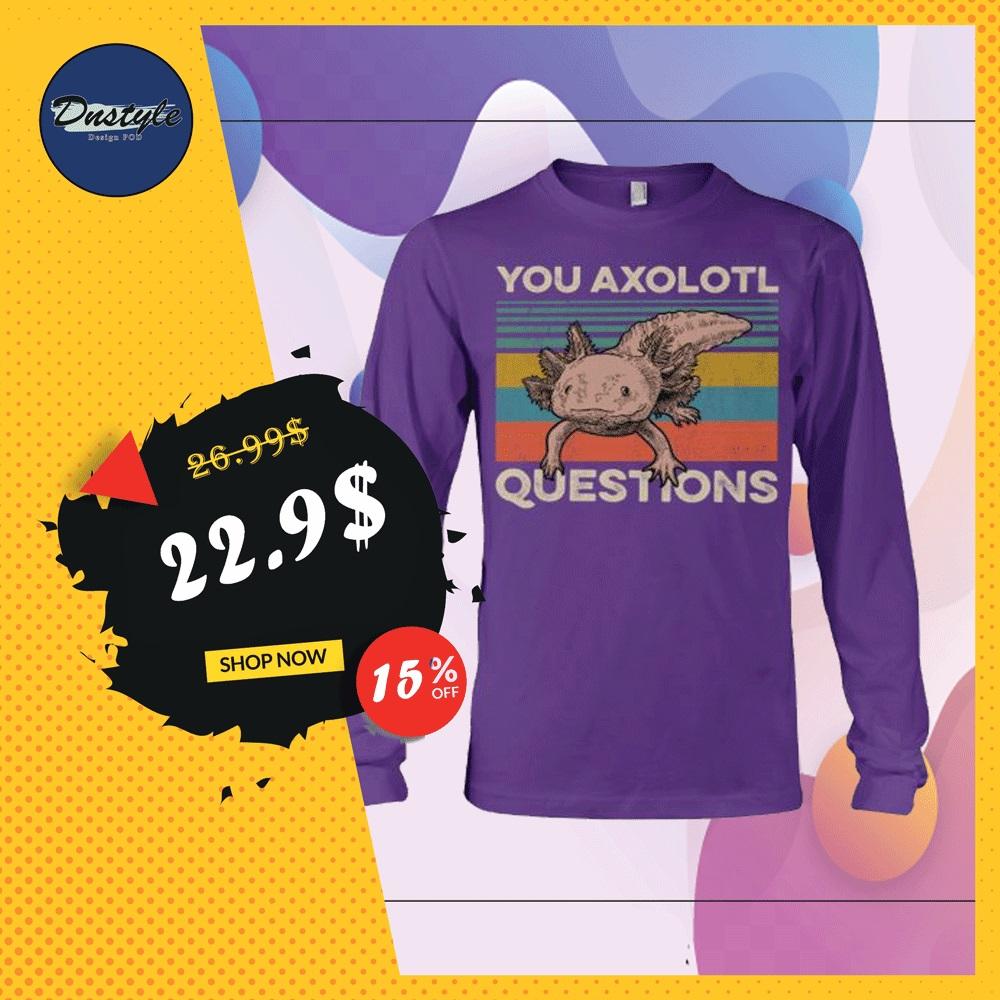 You axolotl questions vintage long sleeved