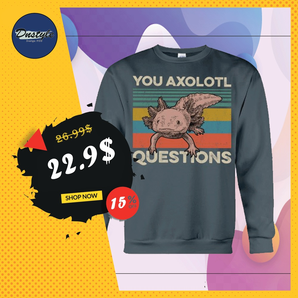 You axolotl questions vintage sweater