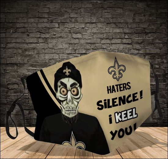Achmed New Orleans Saints haters silence i keel you face mask