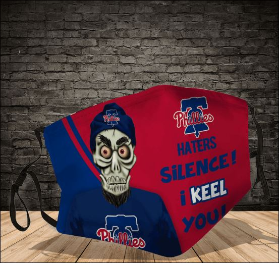 Achmed Philadelphia Phillies haters silence i keel you face mask