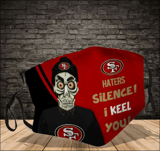 Achmed San Francisco 49ers haters silence i keel you face mask