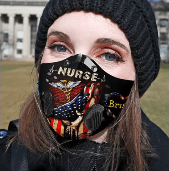 America flag nurse briana activated carbon Pm 2.5 Fm face mask