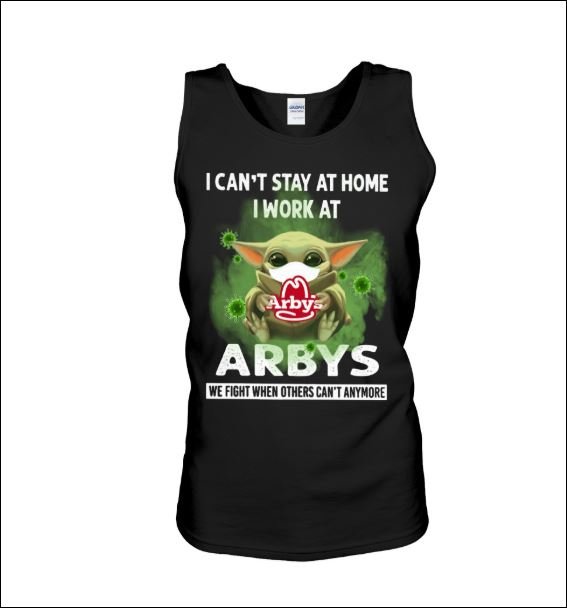 Baby Yoda i can't stay at home i work at Arbys tank top