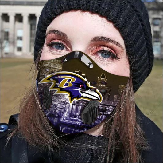 Baltimore Ravens filter activated carbon face mask