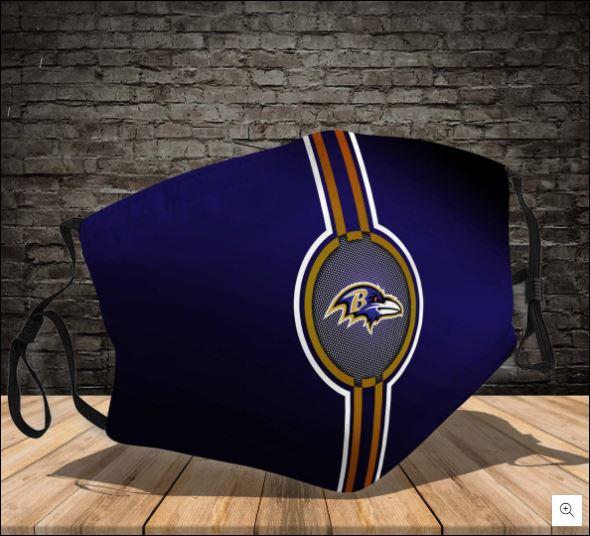 Baltimore Ravens logo face mask