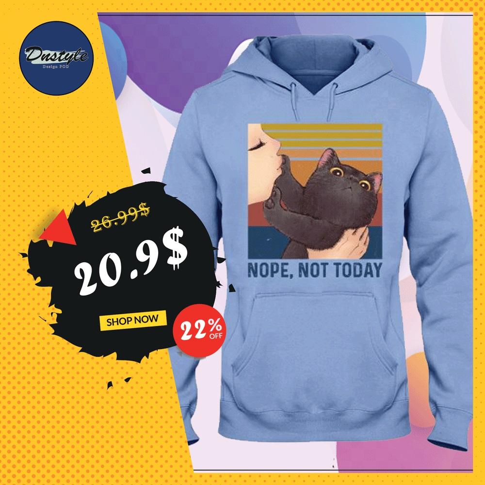 Black cat nope not today vintage hoodie