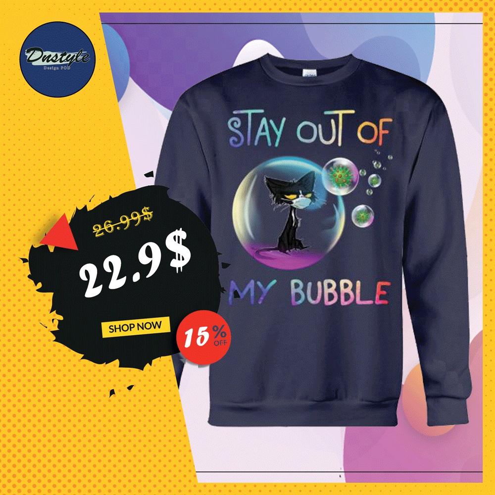 Black cat wear mask stay out of my bubble coronavirus sweater
