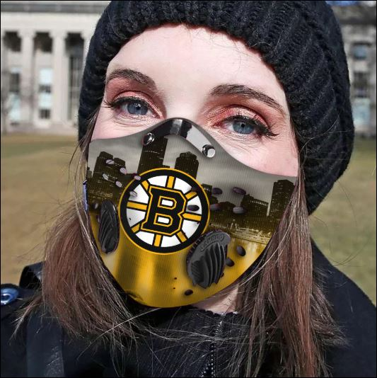Boston Bruins filter activated carbon face mask