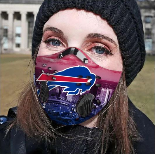 Buffalo Bills filter activated carbon face mask