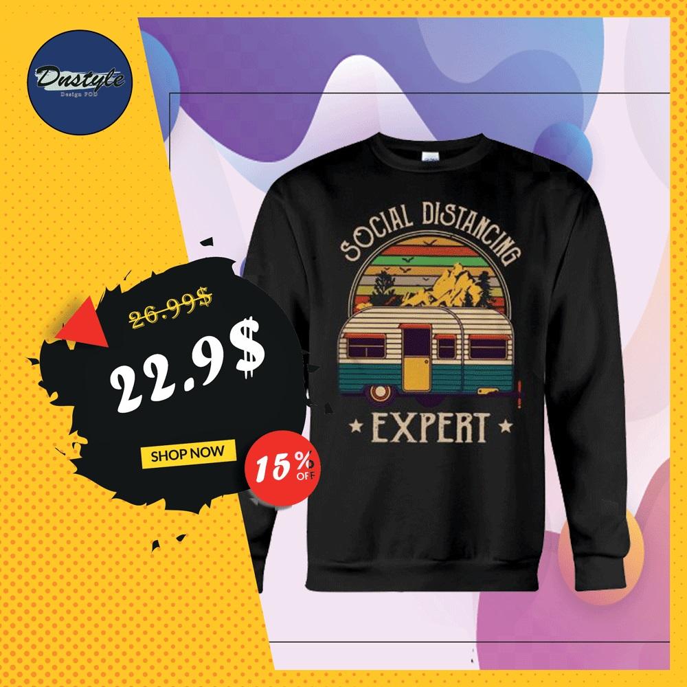 Camping social distancing expert sweater