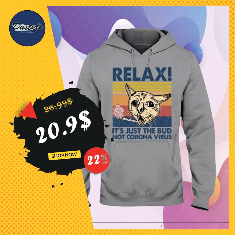 Cat relax it's just the bub not corona virus vintage hoodie