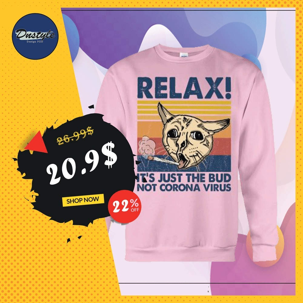Cat relax it's just the bub not corona virus vintage sweater