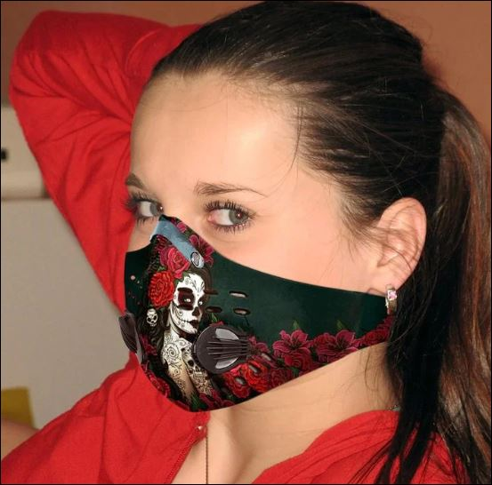 Caveira Mexicana girl activated carbon Pm 2.5 Fm face mask