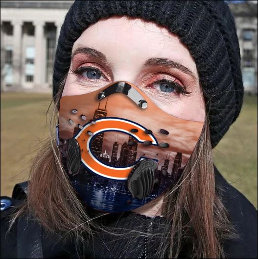 Chicago Bears filter activated carbon face mask