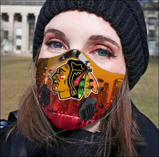 Chicago Blackhawks filter activated carbon face mask