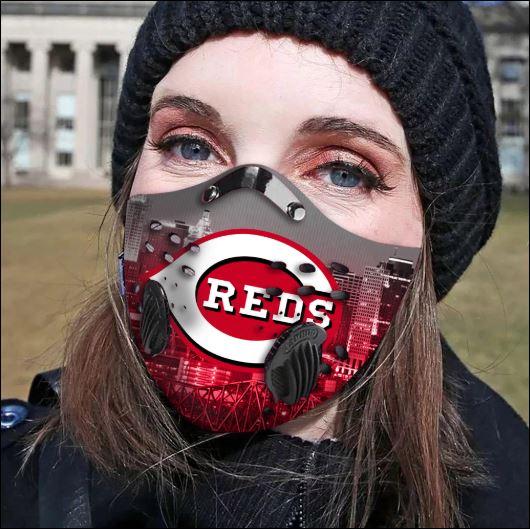 Cincinnati Reds filter activated carbon face mask