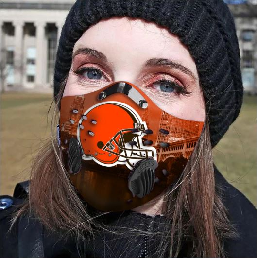 Cleveland Browns filter activated carbon face mask
