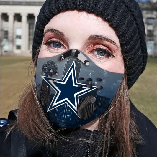 Dallas Cowboys filter activated carbon face mask