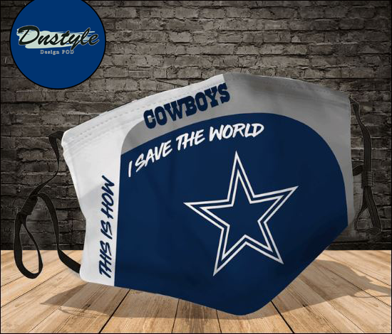 Dallas Cowboys this how i save the world face mask