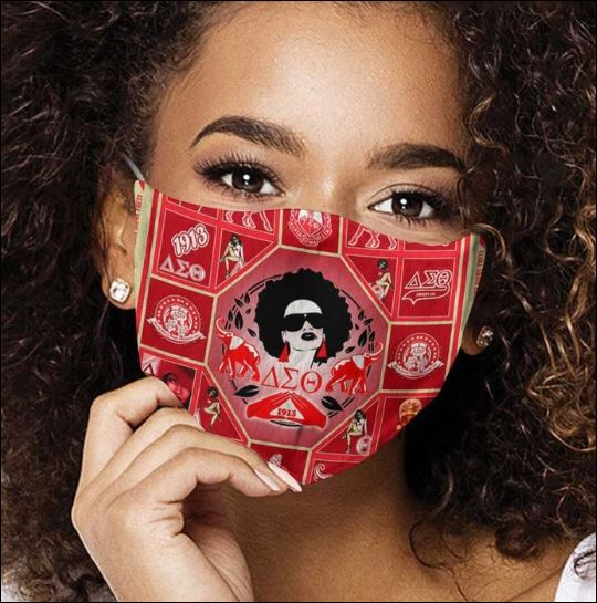 Delta Sigma Theta cloth face mask