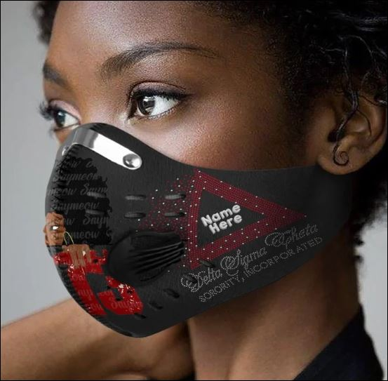 Delta Sigma Theta filter activated carbon Pm 2.5 Fm face mask
