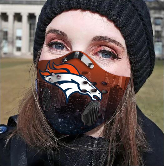 Denver Broncos filter activated carbon face mask