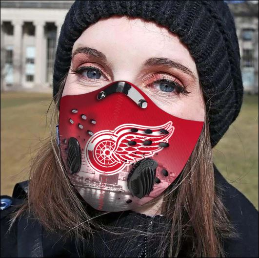 Detroit Red Wings filter activated carbon face mask