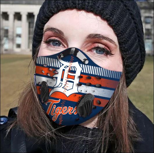 Detroit Tigers filter activated carbon face mask