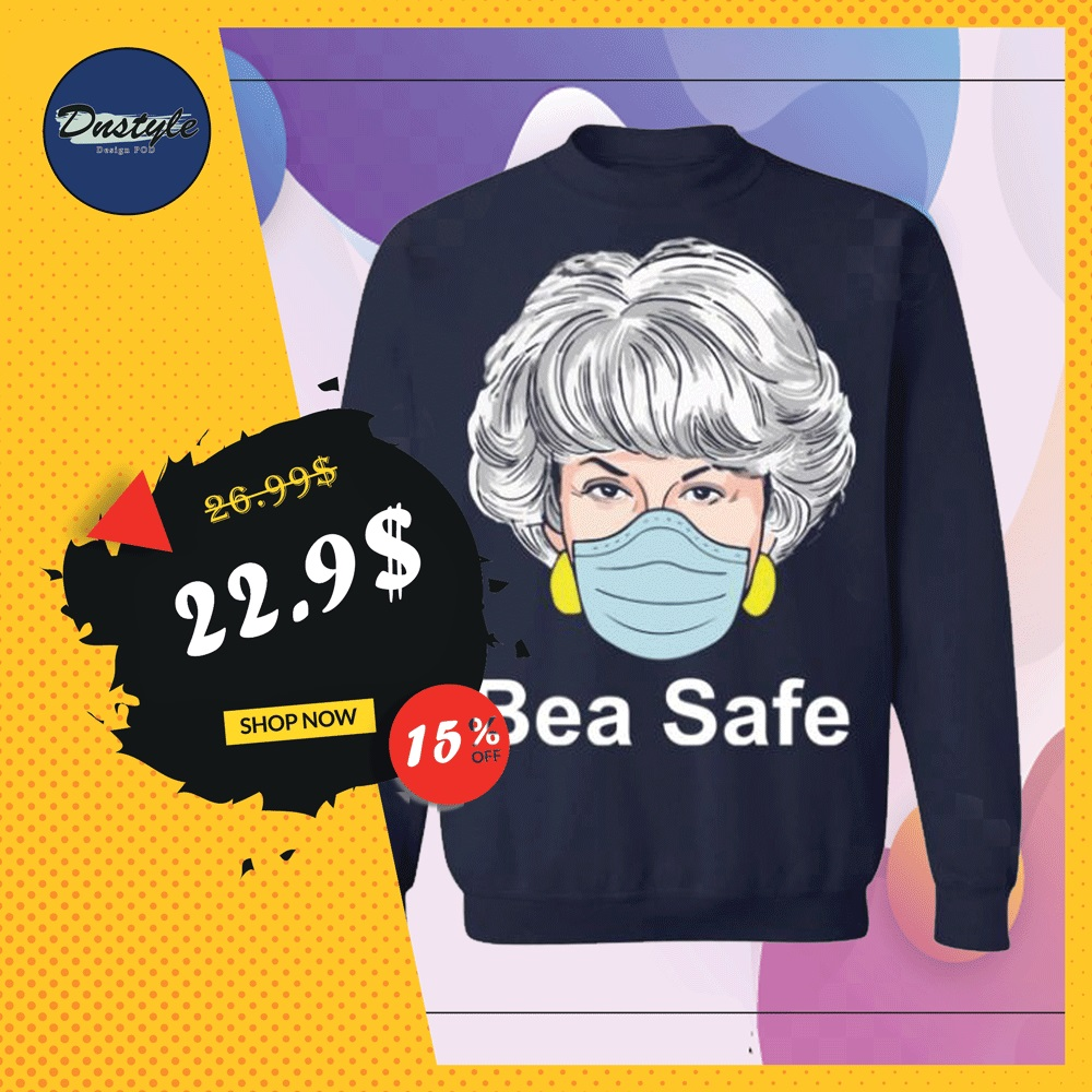 Dorothy Golden Girls wearing mask bea safe sweater