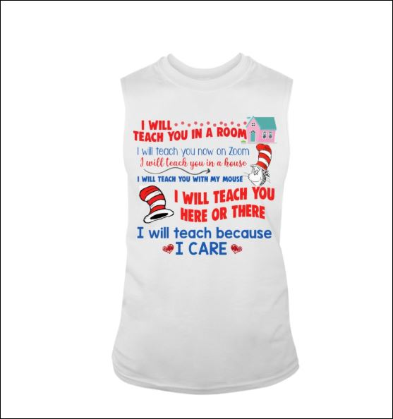 Dr Seuss i will teach you in a room i will teach you now on zoom tank top