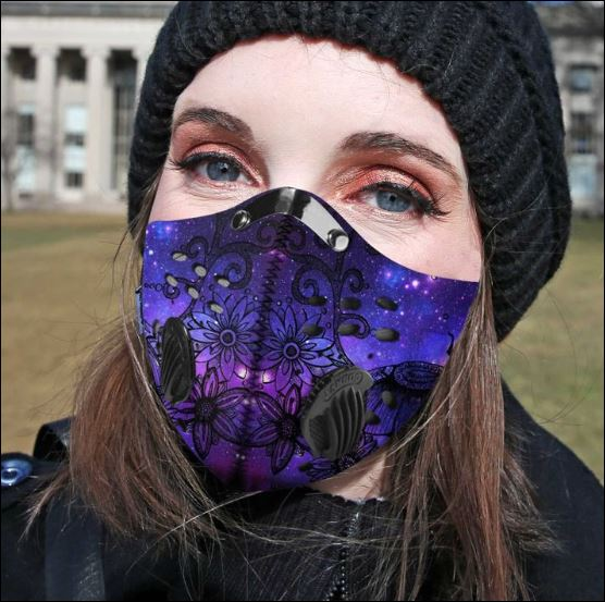 Dragonfly flower galaxy activated carbon Pm 2.5 Fm face mask