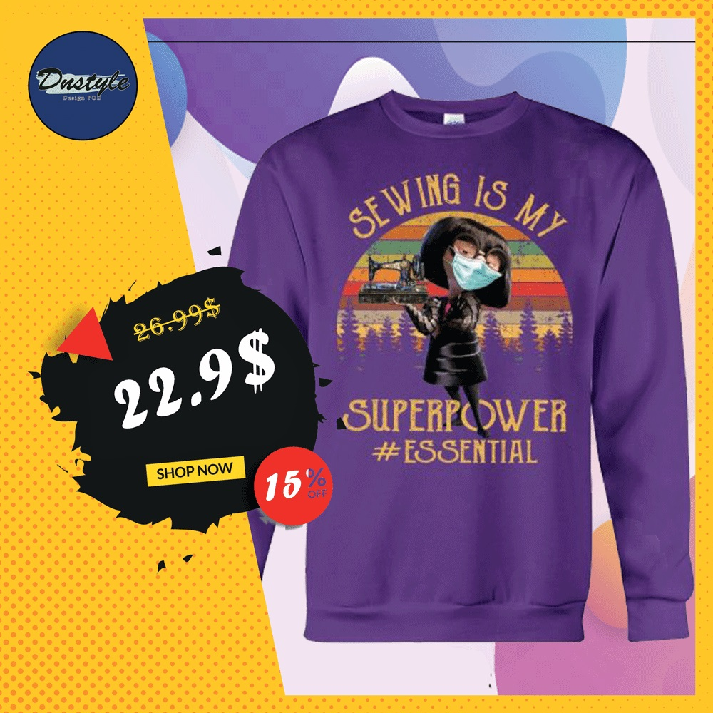 Edna Mode sewing is my superpower essential vintage sweater