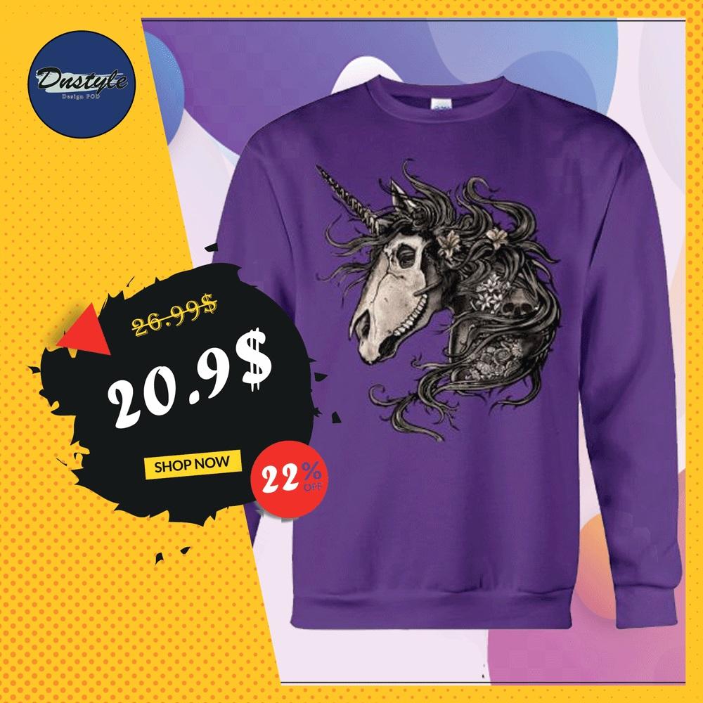 Floral skull unicorn long sleeved