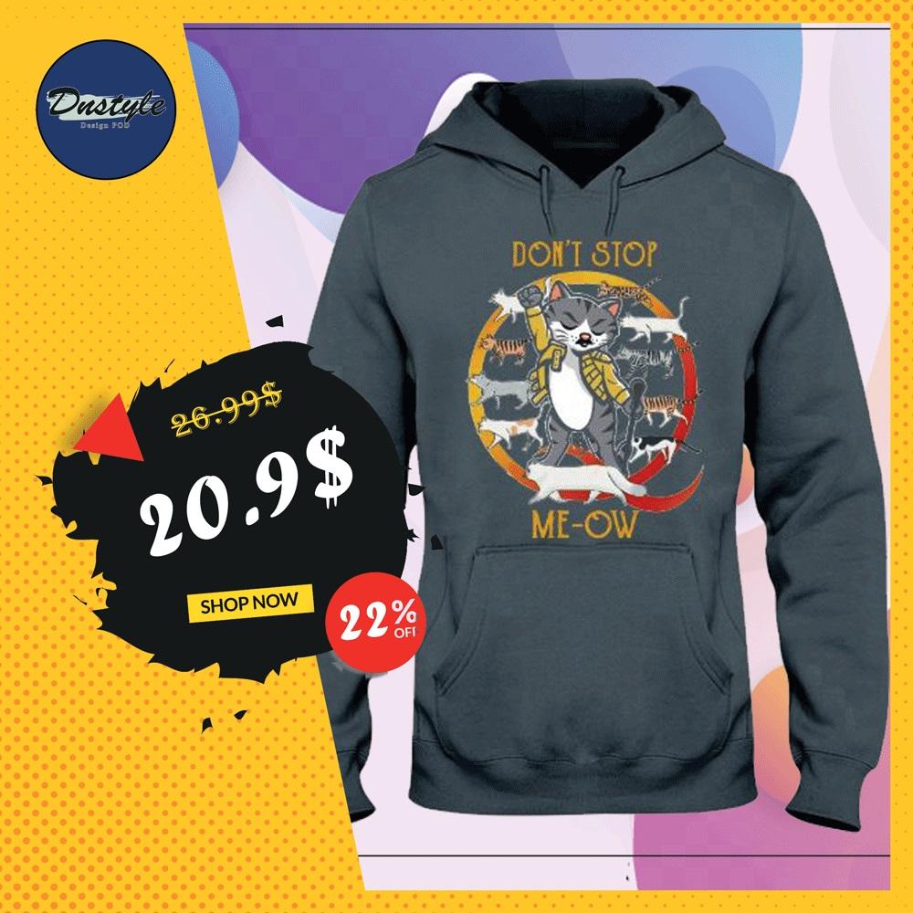 Freddie Mercury cat don't stop me-ow hoodie