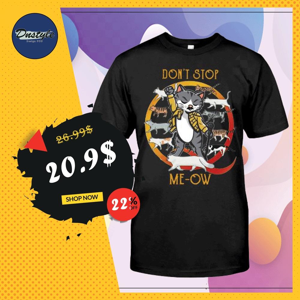 Freddie Mercury cat don't stop me-ow shirt