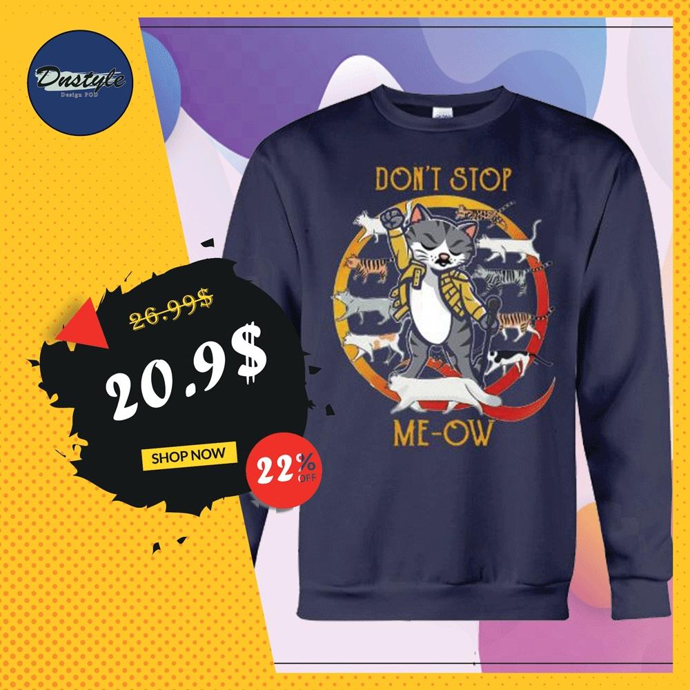 Freddie Mercury cat don't stop me-ow sweater