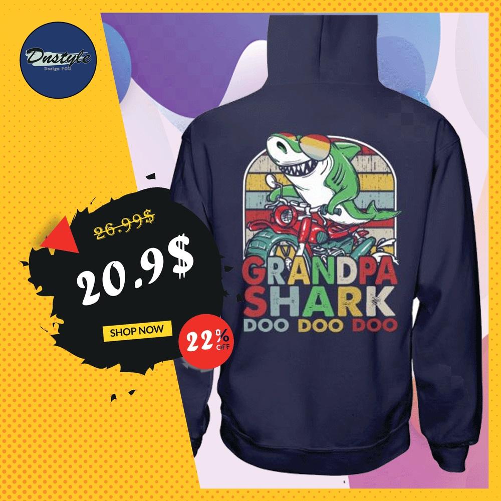 Grandpa shark doo doo doo vintage hoodie