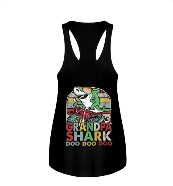 Grandpa shark doo doo doo vintage tank top