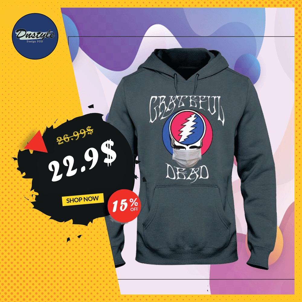 Grateful dead logo wear mask hoodie