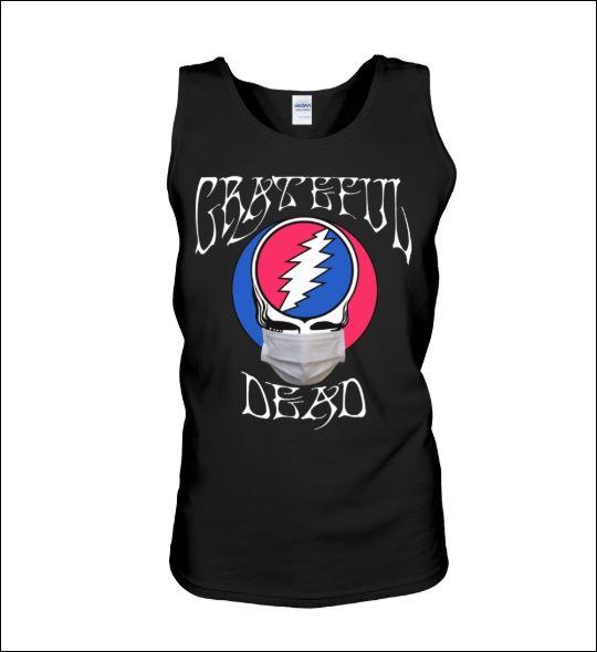 Grateful dead logo wear mask tank top