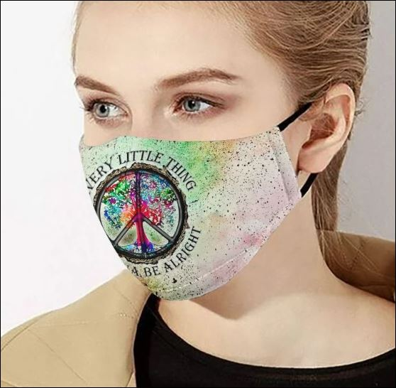 Hippie everything gonna be alright cloth face mask